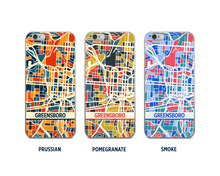 Greensboro Map Phone Case - iPhone 5, iPhone 6, iPhone 7