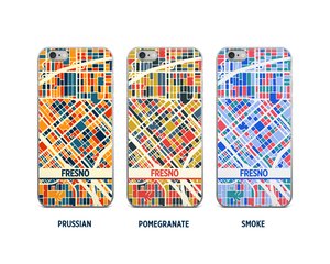 Fresno Map Phone Case - iPhone 5, iPhone 6, iPhone 7
