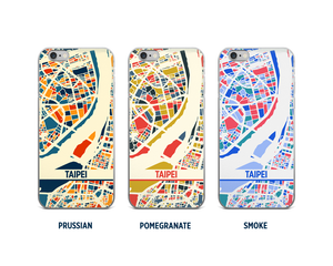 Taipei Map Phone Case - iPhone 5, iPhone 6, iPhone 7