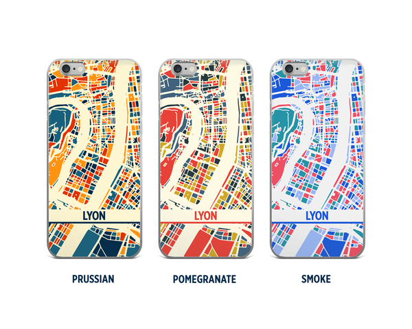Lyon Map Phone Case - iPhone 5, iPhone 6, iPhone 7