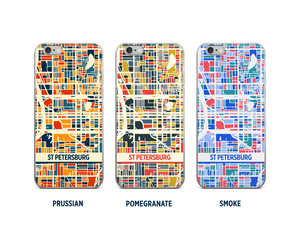 St Petersburg Map Phone Case - iPhone 5, iPhone 6, iPhone 7