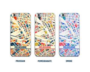 Melbourne Map Phone Case - iPhone 5, iPhone 6, iPhone 7