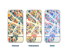 Zurich Map Phone Case - iPhone 5, iPhone 6, iPhone 7