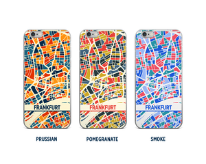 Frankfurt Map Phone Case - iPhone 5, iPhone 6, iPhone 7