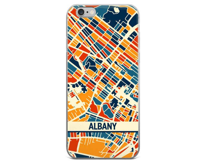 Albany Map Phone Case - Albany iPhone Case - iPhone 6 Case - iPhone 6 Plus Case
