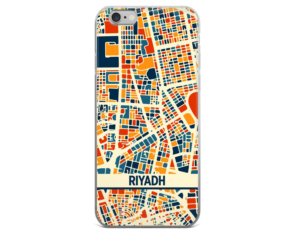 Riyadh Map Phone Case - Riyadh iPhone Case - iPhone 6 Case - iPhone 6 Plus Case