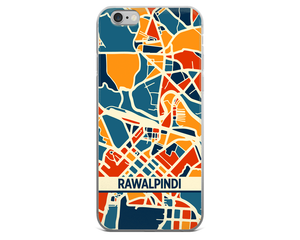 Rawalpindi Map Phone Case - Rawalpindi iPhone Case - iPhone 6 Case - iPhone 6 Plus Case