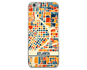 Atlanta Map Phone Case - Atlanta iPhone Case - iPhone 6 Case - iPhone 6 Plus Case