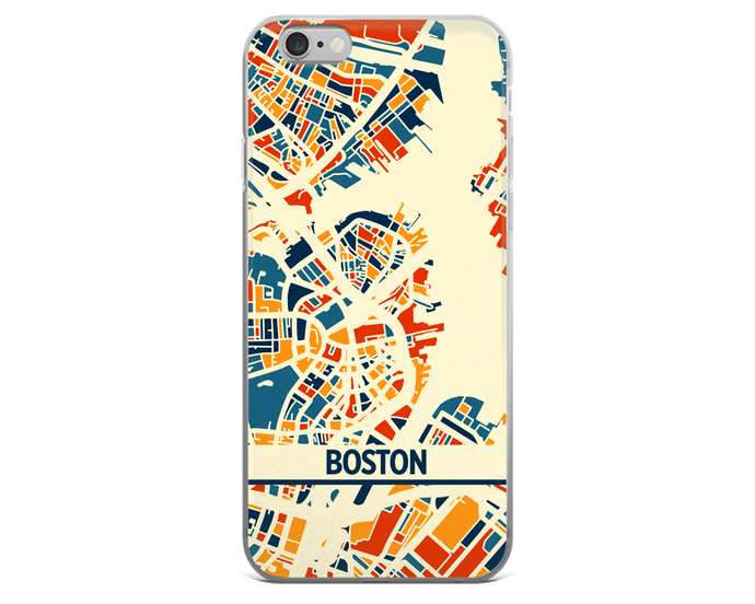 Boston Map Phone Case - Boston iPhone Case - iPhone 6 Case - iPhone 6 Plus Case