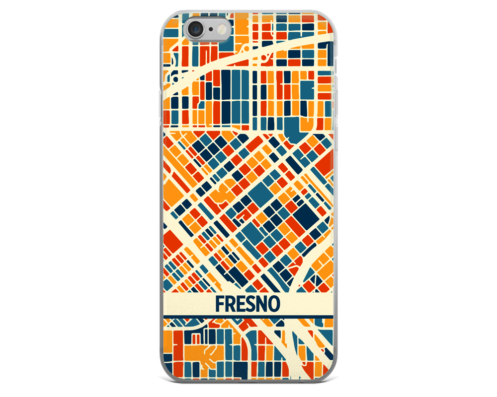 Fresno Map Phone Case - Fresno iPhone Case - iPhone 6 Case - iPhone 6 Plus Case