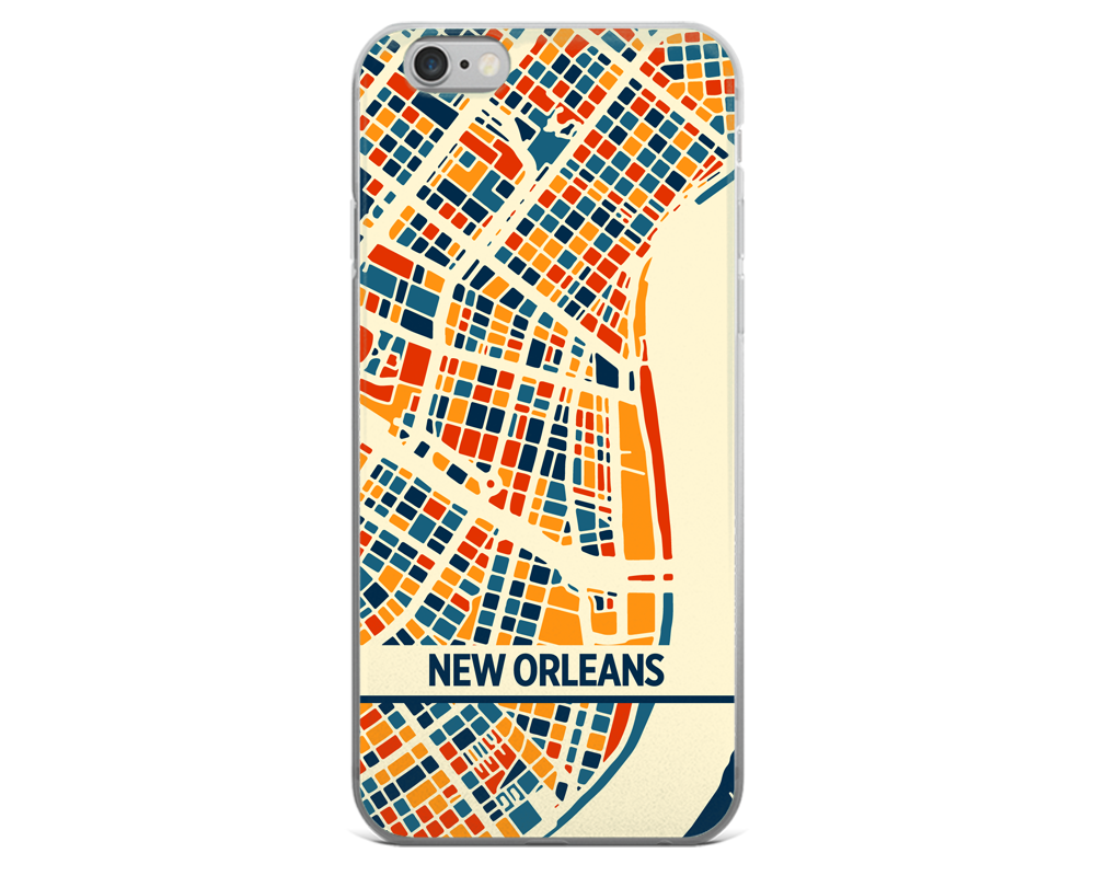 New Orleans Map Phone Case - New Orleans iPhone Case - iPhone 6 Case - iPhone 6 Plus Case