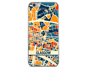 Glasgow Map Phone Case - Glasgow iPhone Case - iPhone 6 Case - iPhone 6 Plus Case