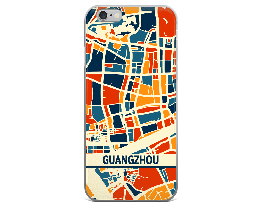 Guangzhou Map Phone Case - Guangzhou iPhone Case - iPhone 6 Case - iPhone 6 Plus Case