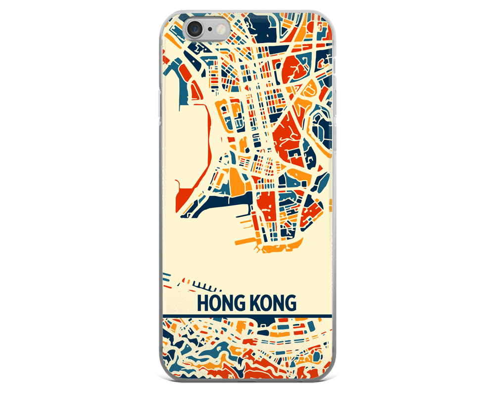 Hong Kong Map Phone Case - Hong Kong iPhone Case - iPhone 6 Case - iPhone 6 Plus Case