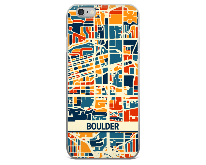 Boulder Map Phone Case - Boulder iPhone Case - iPhone 6 Case - iPhone 6 Plus Case