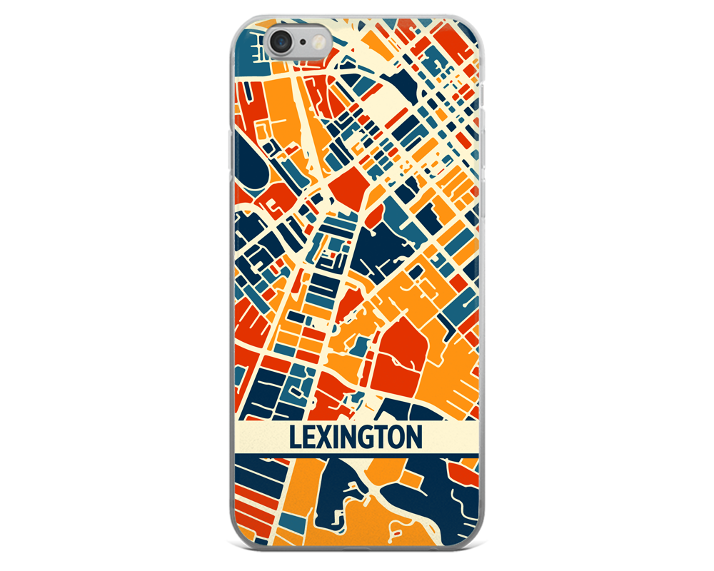 Lexington Map Phone Case - Lexington iPhone Case - iPhone 6 Case - iPhone 6 Plus Case