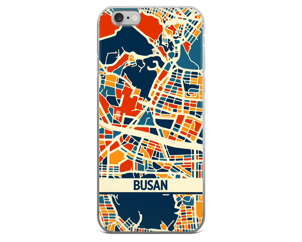 Busan Map Phone Case - Busan iPhone Case - iPhone 6 Case - iPhone 6 Plus Case