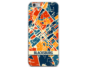 Blacksburg Map Phone Case - Blacksburg iPhone Case - iPhone 6 Case - iPhone 6 Plus Case