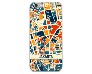 Jakarta Map Phone Case - Jakarta iPhone Case - iPhone 6 Case - iPhone 6 Plus Case