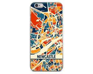 Newcastle Map Phone Case - Newcastle iPhone Case - iPhone 6 Case - iPhone 6 Plus Case