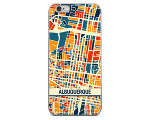 Albuquerque Map Phone Case - Albuquerque iPhone Case - iPhone 6 Case - iPhone 6 Plus Case