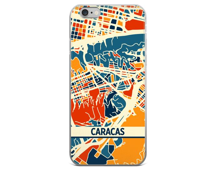 Caracas Map Phone Case - Caracas iPhone Case - iPhone 6 Case - iPhone 6 Plus Case
