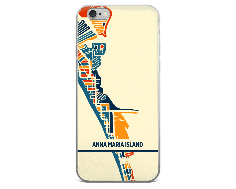 Anna Maria Island Map Phone Case - Anna Maria Island iPhone Case - iPhone 6 Case - iPhone 6 Plus Case