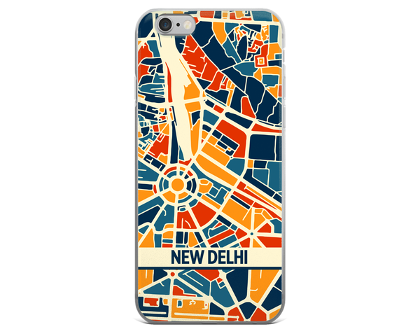 New Delhi Map Phone Case - New Delhi iPhone Case - iPhone 6 Case - iPhone 6 Plus Case
