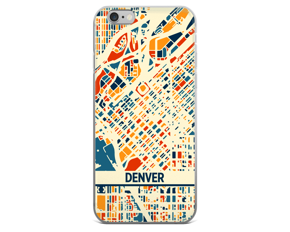 Denver Map Phone Case - Denver iPhone Case - iPhone 6 Case - iPhone 6 Plus Case