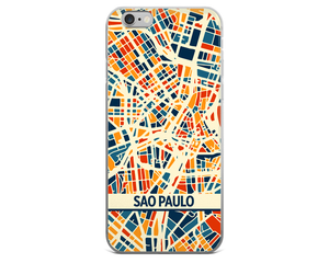 Sao Paulo Map Phone Case - Sao Paulo iPhone Case - iPhone 6 Case - iPhone 6 Plus Case