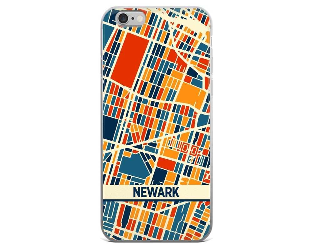 Newark Map Phone Case - Newark iPhone Case - iPhone 6 Case - iPhone 6 Plus Case