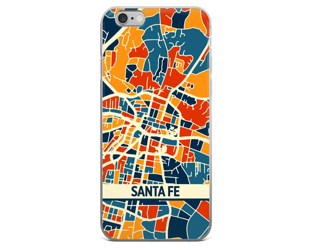 Santa Fe Map Phone Case - Santa Fe iPhone Case - iPhone 6 Case - iPhone 6 Plus Case