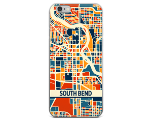 South Bend Map Phone Case - South Bend iPhone Case - iPhone 6 Case - iPhone 6 Plus Case