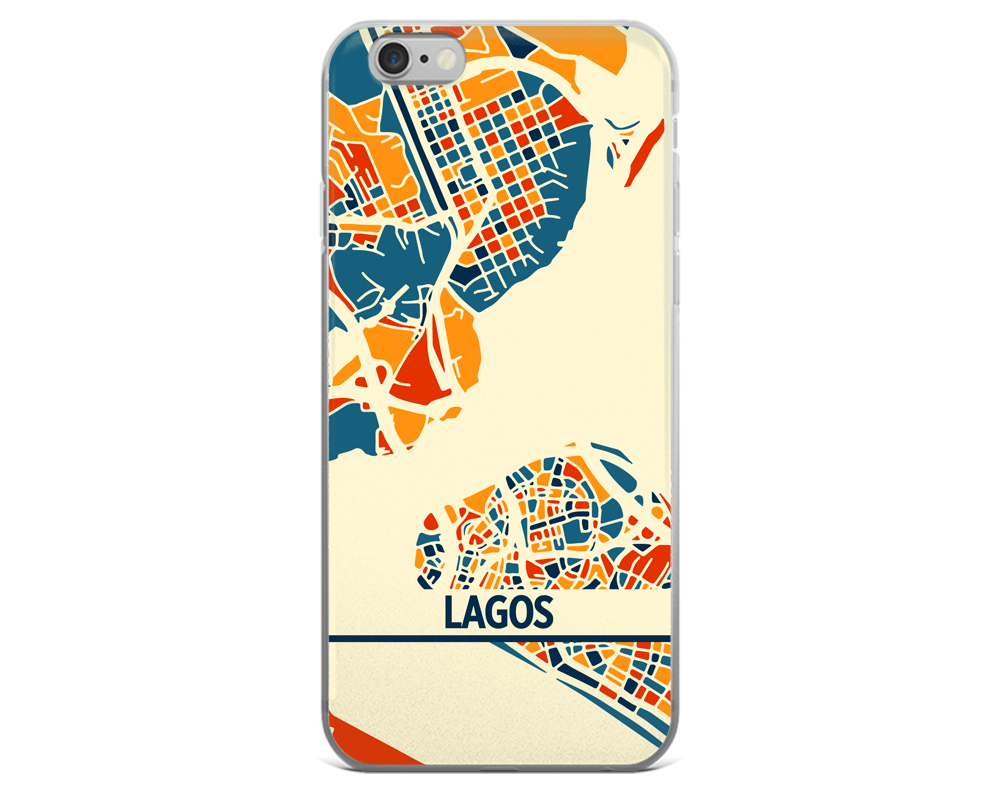 Lagos Map Phone Case - Lagos iPhone Case - iPhone 6 Case - iPhone 6 Plus Case