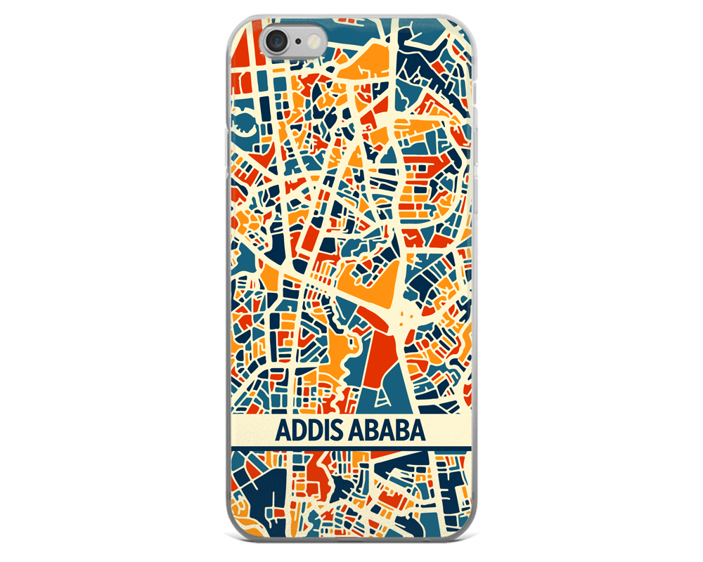 Addis Ababa Map Phone Case - Addis Ababa iPhone Case - iPhone 6 Case - iPhone 6 Plus Case