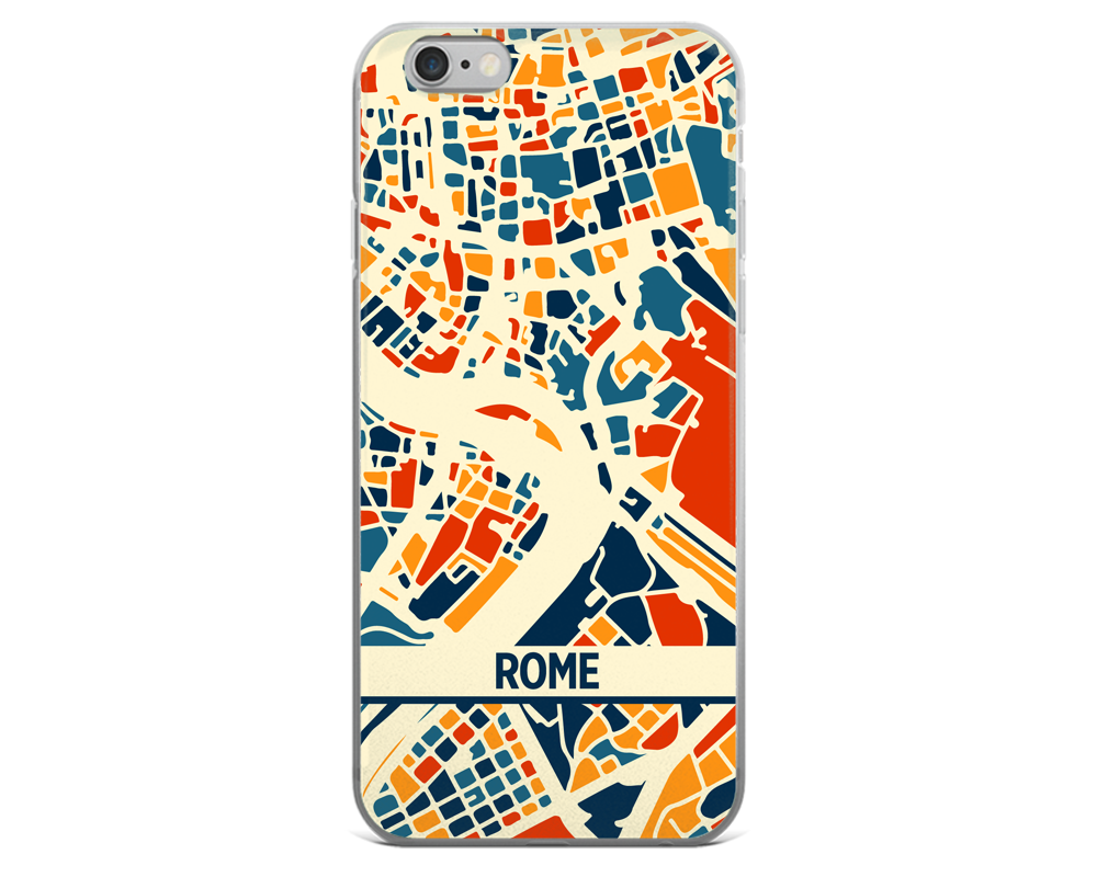 Rome Map Phone Case - Rome iPhone Case - iPhone 6 Case - iPhone 6 Plus Case