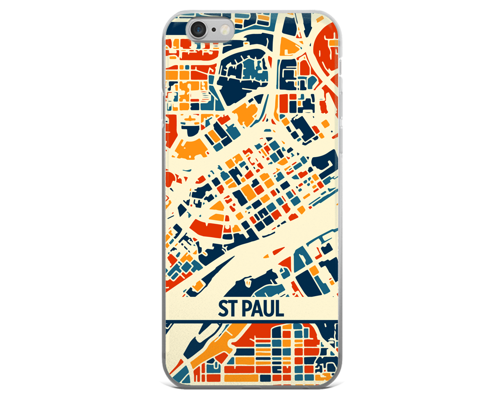 St Paul Map Phone Case - St Paul iPhone Case - iPhone 6 Case - iPhone 6 Plus Case