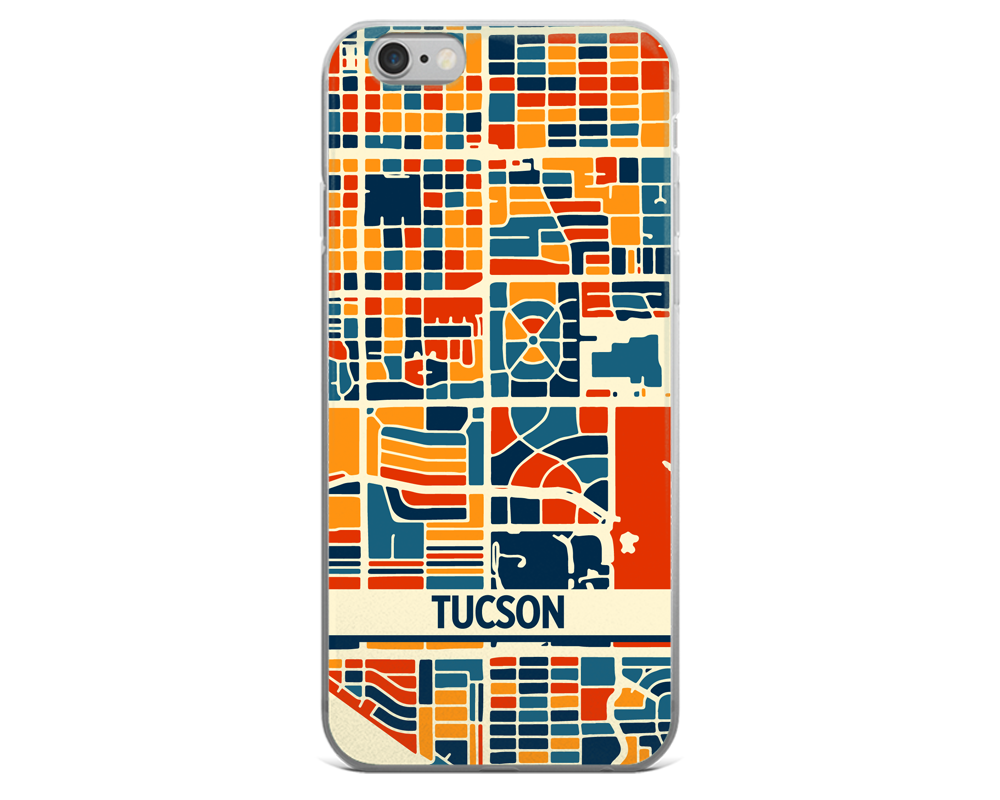 Tucson Map Phone Case - Tucson iPhone Case - iPhone 6 Case - iPhone 6 Plus Case