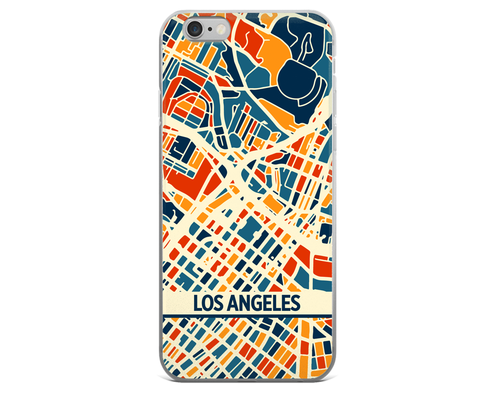 Los Angeles Map Phone Case - Los Angeles iPhone Case - iPhone 6 Case - iPhone 6 Plus Case