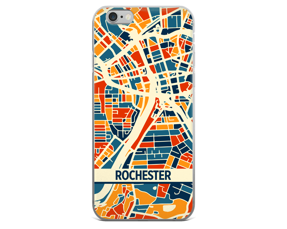 Rochester Map Phone Case - Rochester iPhone Case - iPhone 6 Case - iPhone 6 Plus Case