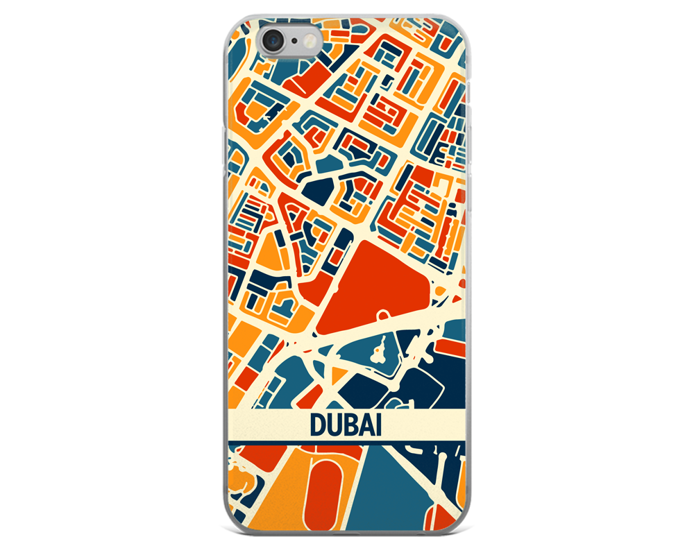 Dubai Map Phone Case - Dubai iPhone Case - iPhone 6 Case - iPhone 6 Plus Case