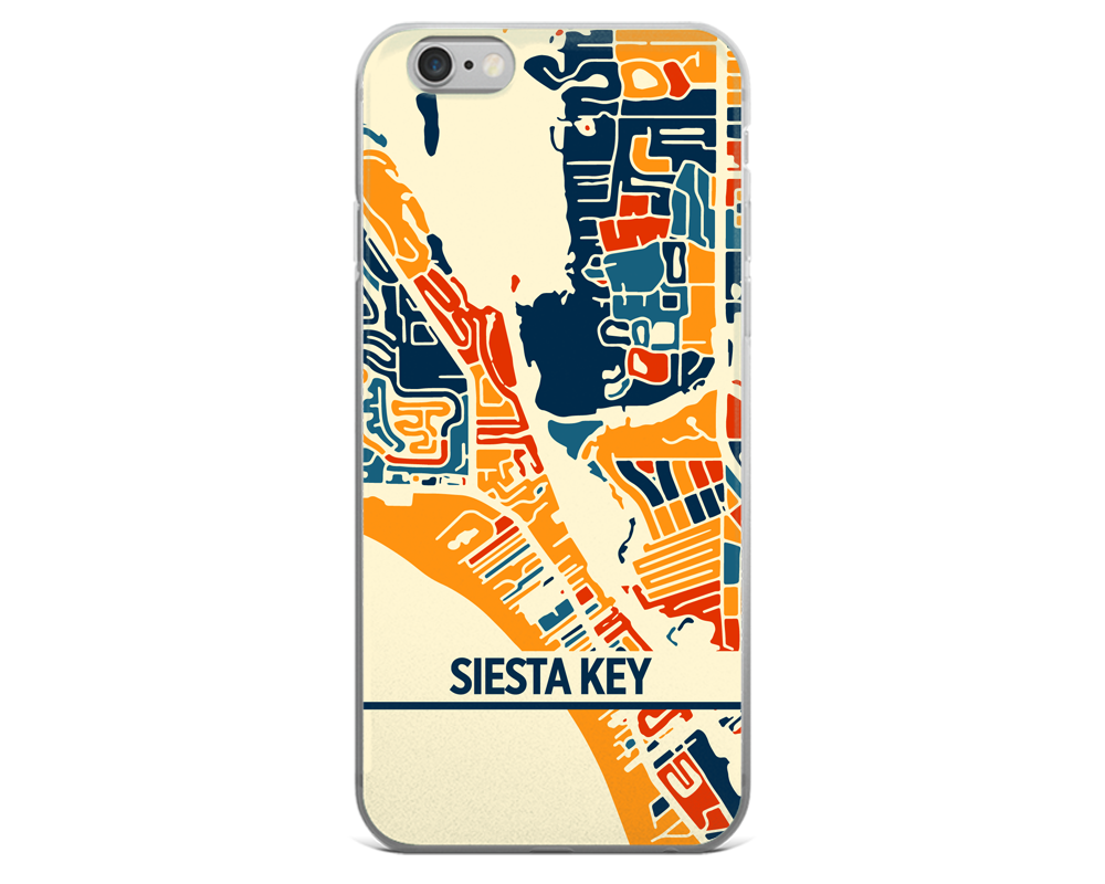 Siesta Key Map Phone Case - Siesta Key iPhone Case - iPhone 6 Case - iPhone 6 Plus Case