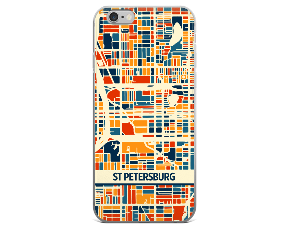 St Petersburg Map Phone Case - St Petersburg iPhone Case - iPhone 6 Case - iPhone 6 Plus Case