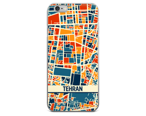 Tehran Map Phone Case - Tehran iPhone Case - iPhone 6 Case - iPhone 6 Plus Case