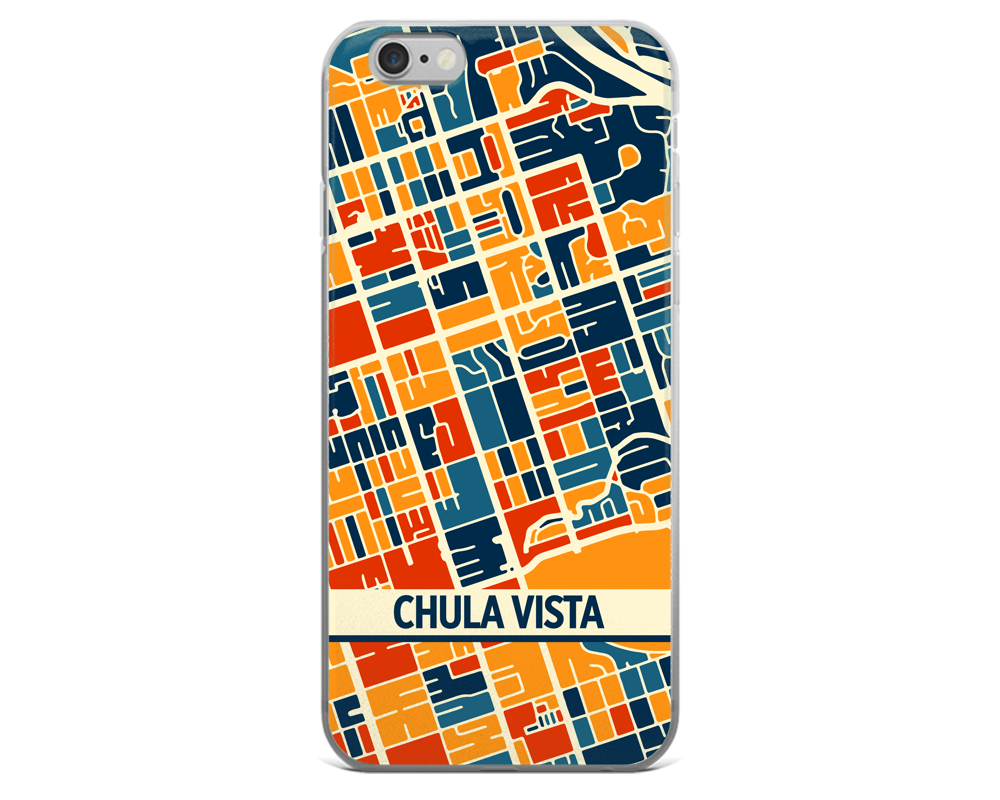Chula Vista Map Phone Case - Chula Vista iPhone Case - iPhone 6 Case - iPhone 6 Plus Case