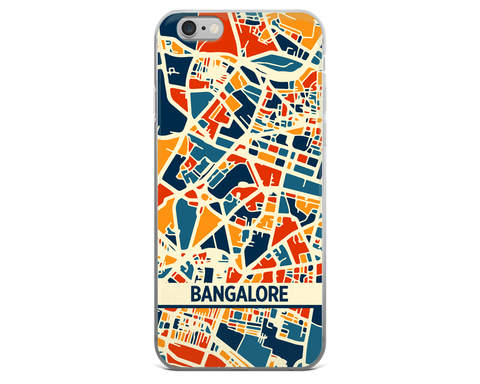 Bangalore Map Phone Case - Bangalore iPhone Case - iPhone 6 Case - iPhone 6 Plus Case