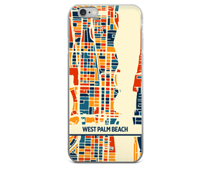 West Palm Beach Map Phone Case - West Palm Beach iPhone Case - iPhone 6 Case - iPhone 6 Plus Case