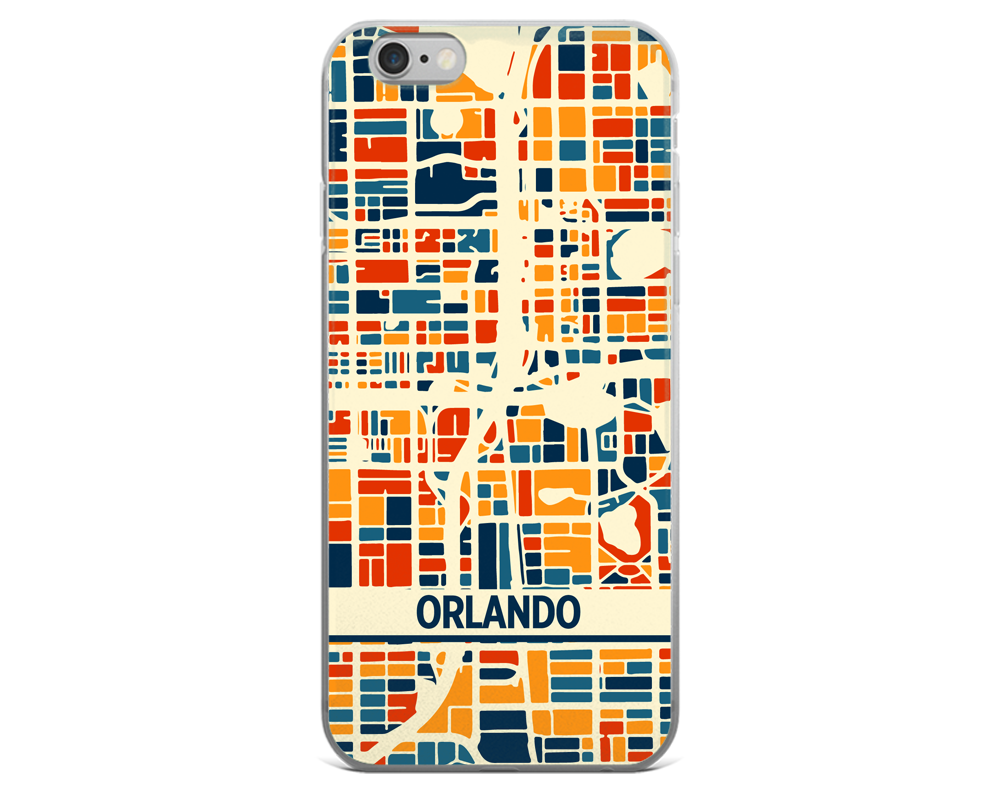 Orlando Map Phone Case - Orlando iPhone Case - iPhone 6 Case - iPhone 6 Plus Case
