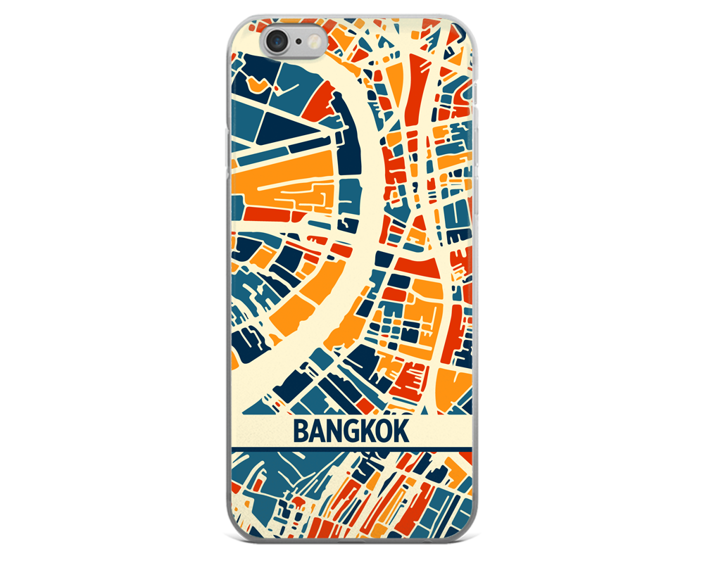 Bangkok Map Phone Case - Bangkok iPhone Case - iPhone 6 Case - iPhone 6 Plus Case
