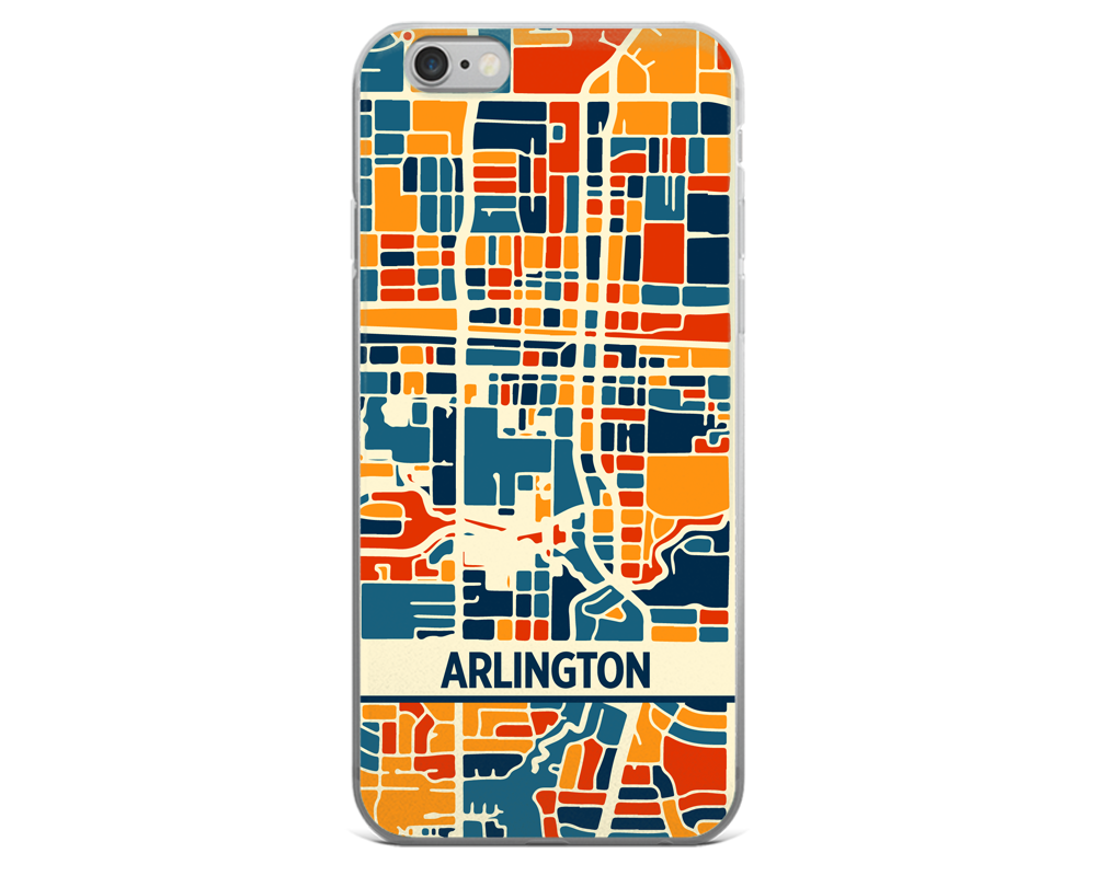 Arlington Map Phone Case - Arlington iPhone Case - iPhone 6 Case - iPhone 6 Plus Case
